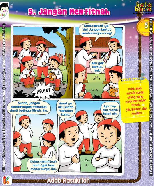 101 Komik Adab Rasulullah, Jangan Memfitnah (5)