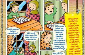 101 Komik Adab Rasulullah, Mengaji (11)