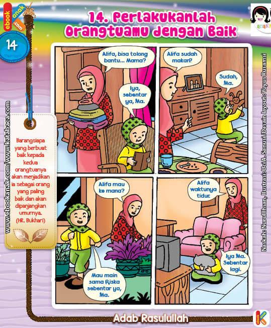 101 Komik Adab Rasulullah, Perlakukanlah Orangtuamu dengan Baik (14)