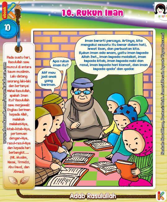 101 Komik Adab Rasulullah, Rukun Iman (10)