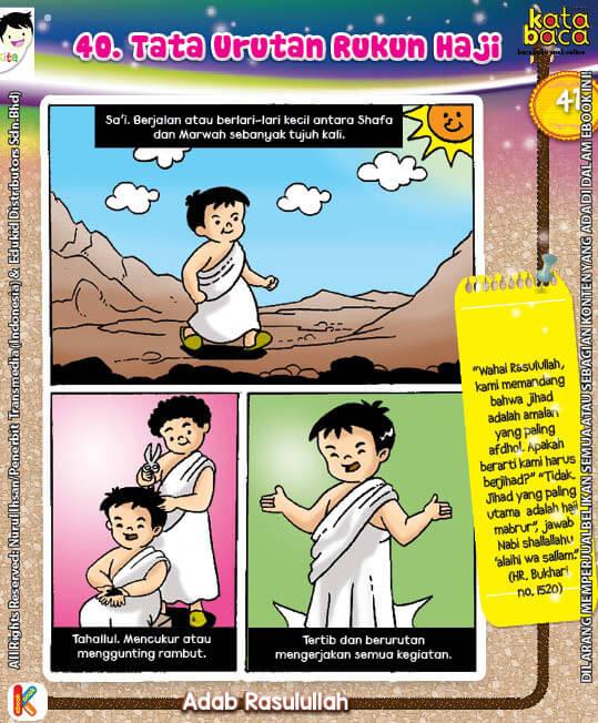 101 Komik Adab Rasulullah, Tata Urutan Rukun Haji (41)