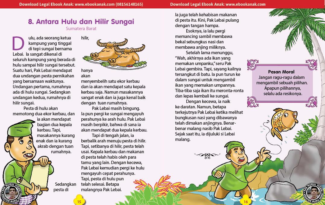 101 cerita nusantara, Antara Hulu dan Hilir Sungai (Dongeng Sumatera Barat) (8)