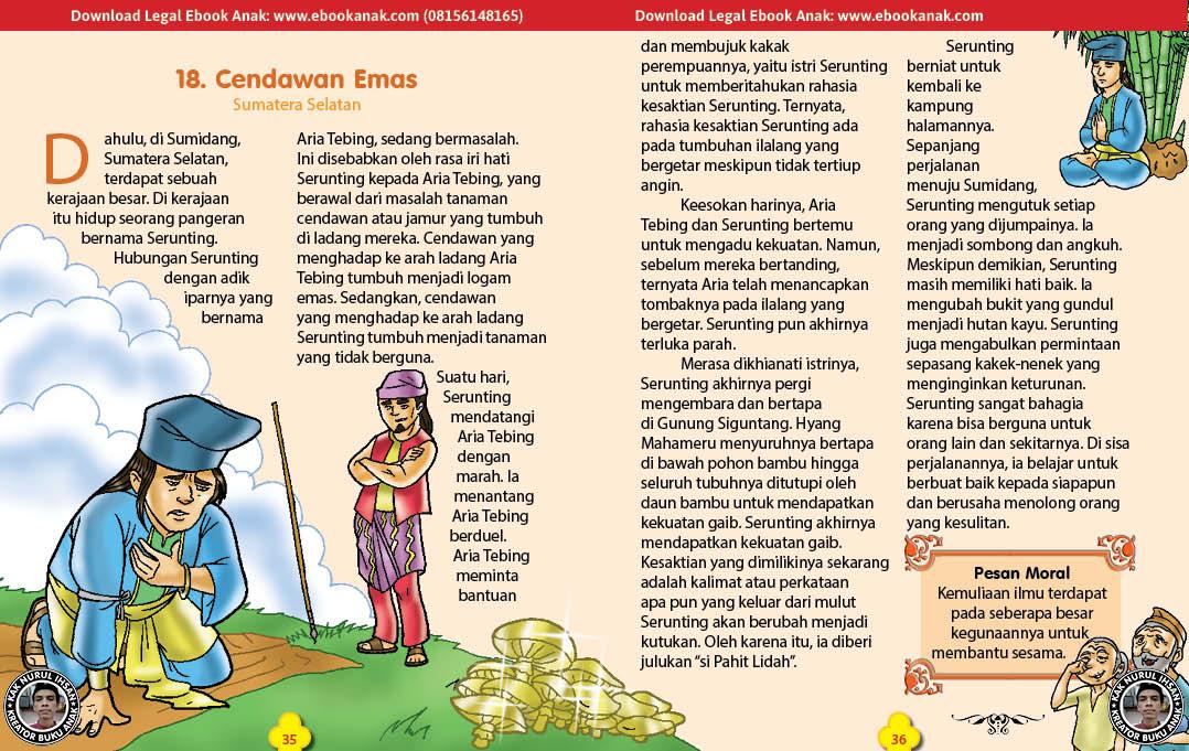 101 cerita nusantara, Cendawan Emas (Cerita Rakyat Sumatera Selatan) (18)