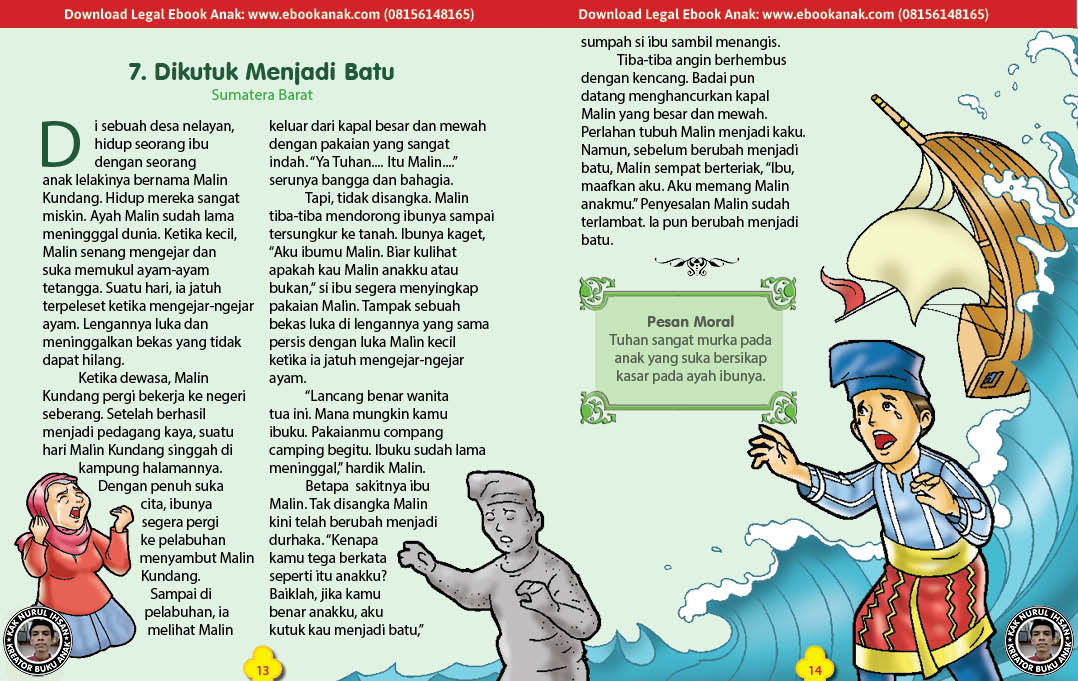 101 cerita nusantara, Dikutuk Menjadi Batu (Dongeng Sumatera Barat) (7)