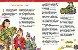 101 cerita nusantara, Mencari Raja Tidur (Cerita Rakyat Bengkulu) (11)