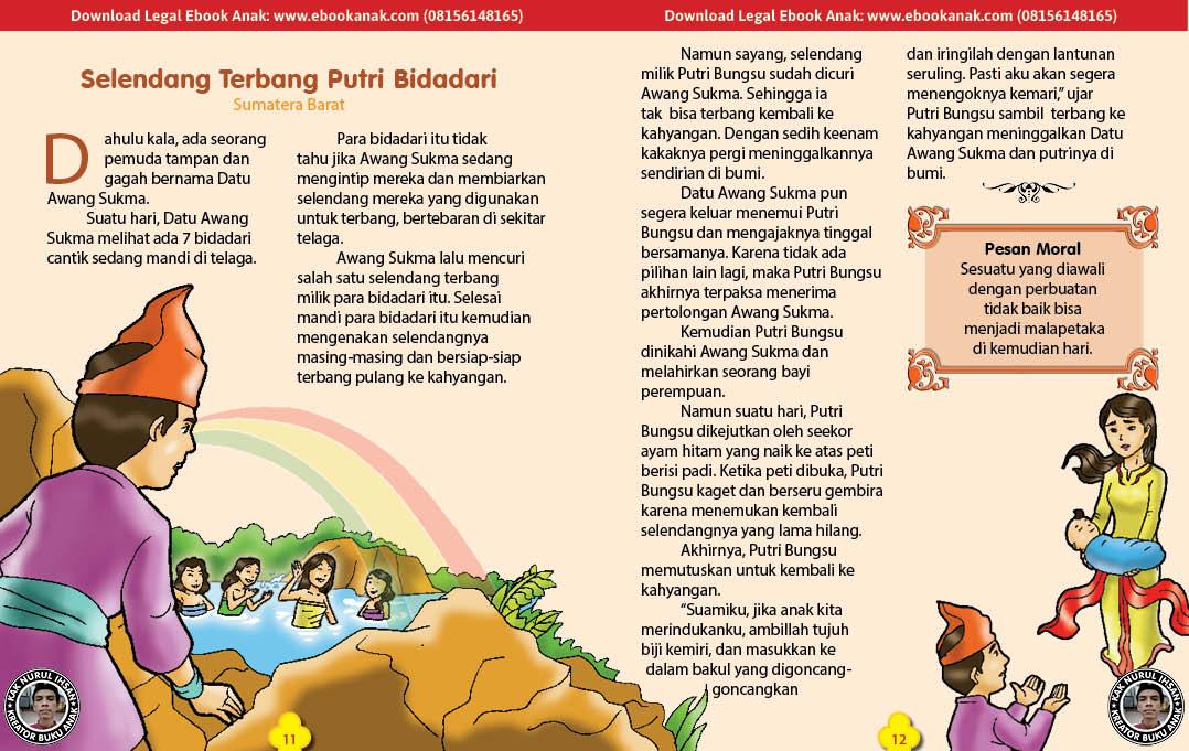 101 cerita nusantara, Selendang Terbang Putri Bidadari (Dongeng Sumatera Barat) (6)