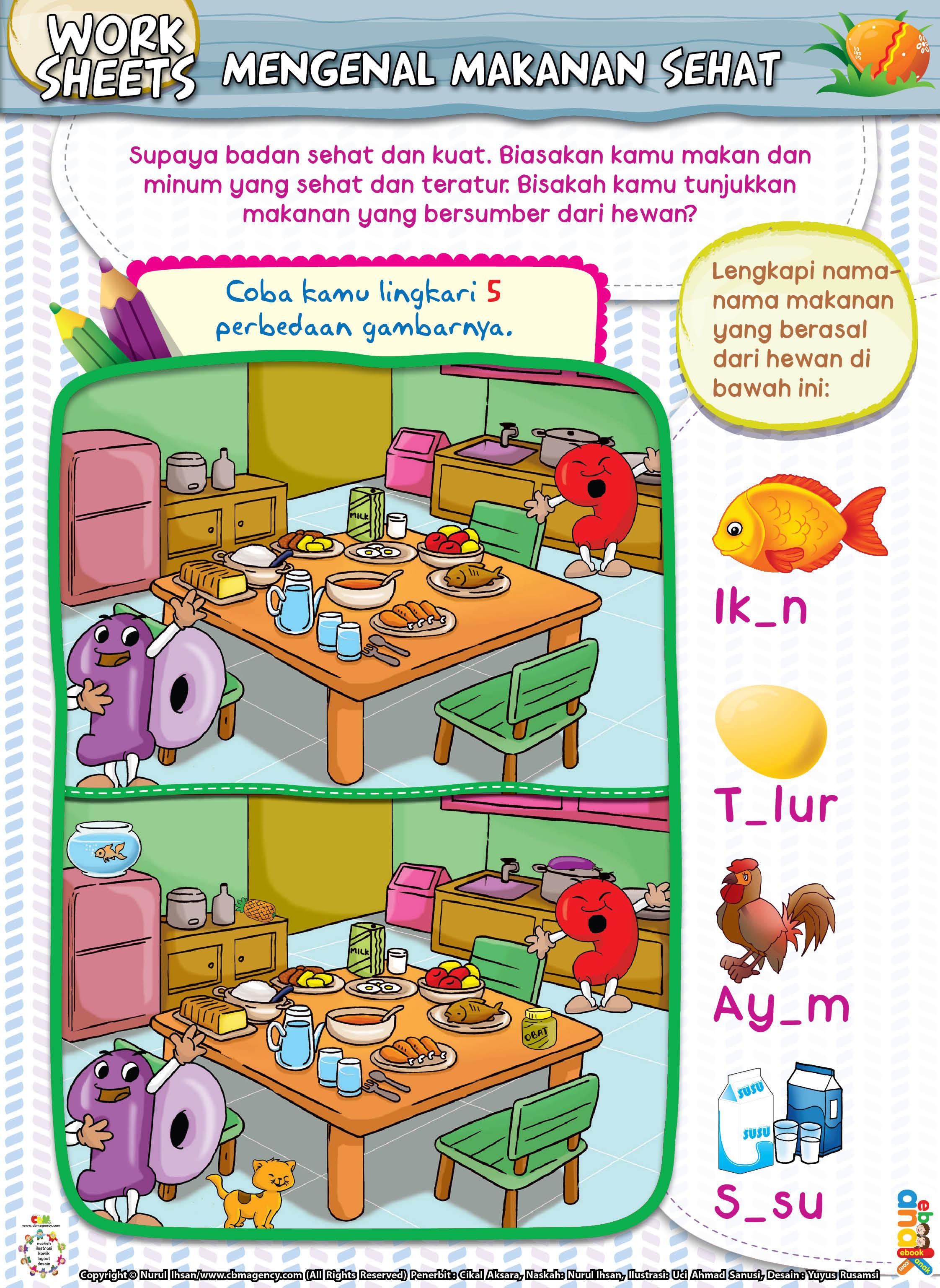 Mengenal Makanan Sehat Ebook Anak