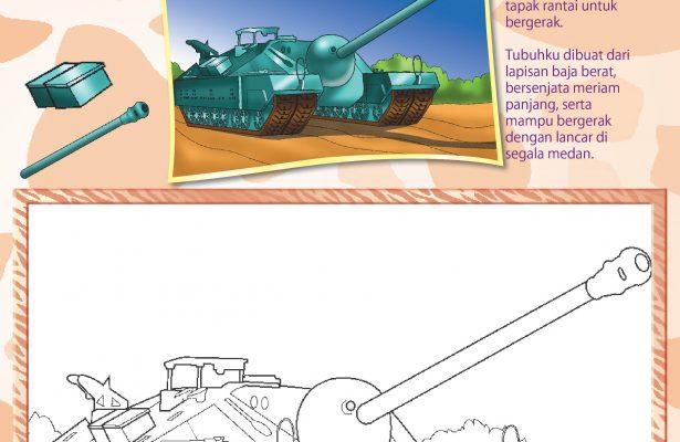 mewarnai angkutan perang tank baja T28