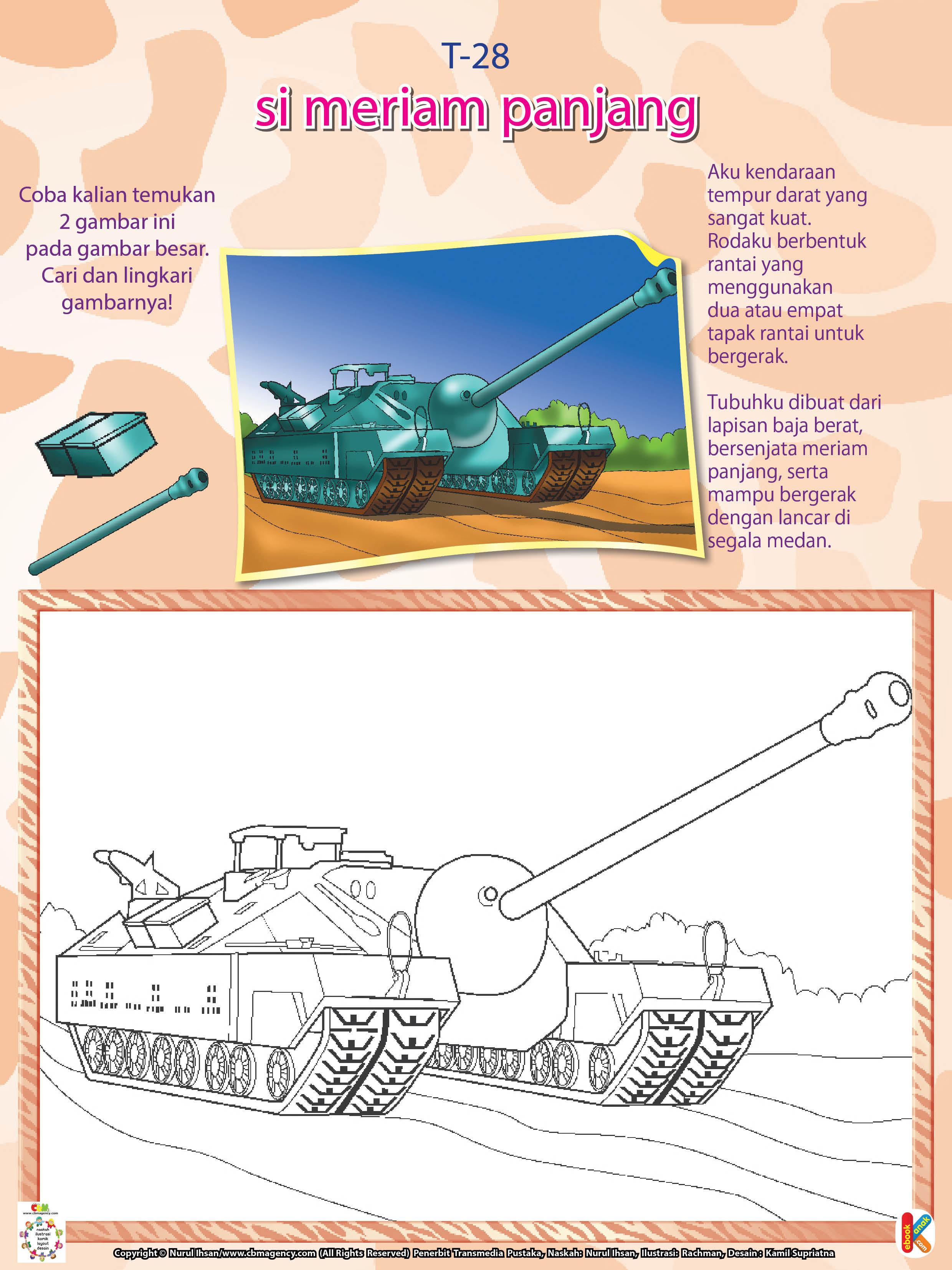 Mewarnai Kendaraan Perang Tank T28