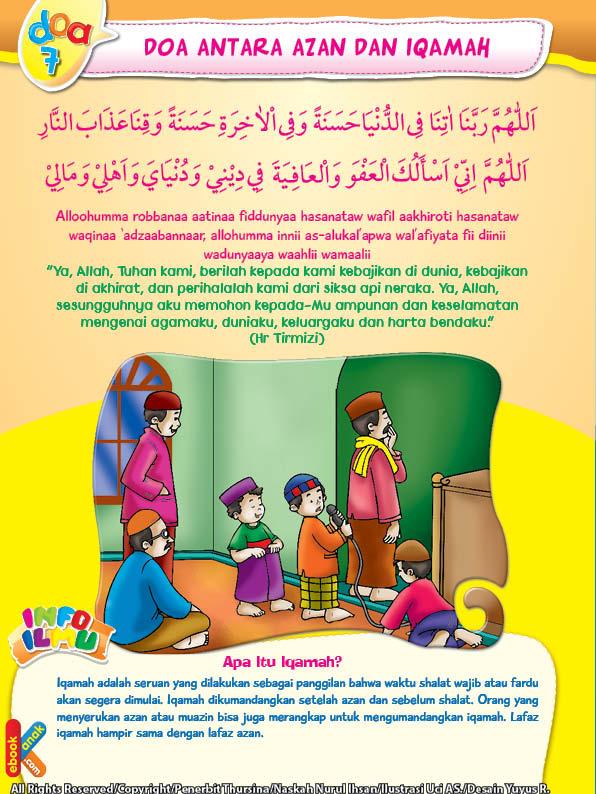 Doa dan Adab Antara Azan dan Iqamah | Ebook Anak