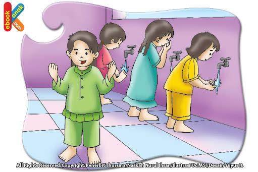 Gambar Kartun Wanita Wudhu Doa Dan Adab Setelah Berwudu Ebook Anak