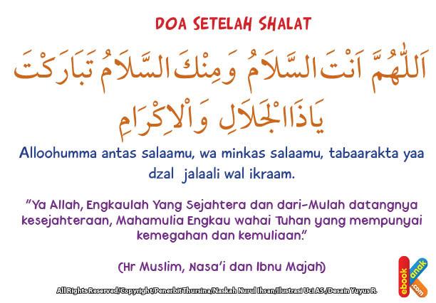 download gratis khat arab doa setelah shalat