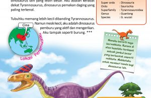 Dinosaurus Guanlong mirip burung.