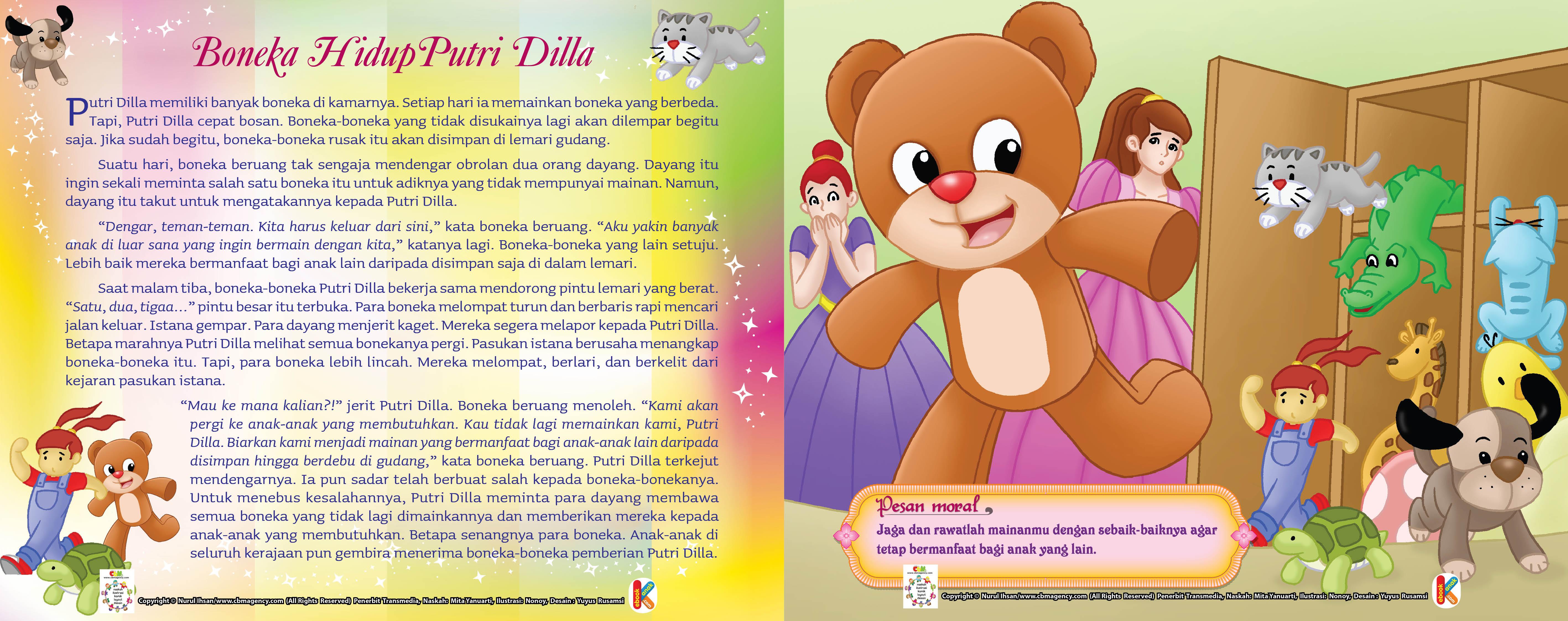 Tapi, Putri Dilla cepat bosan.