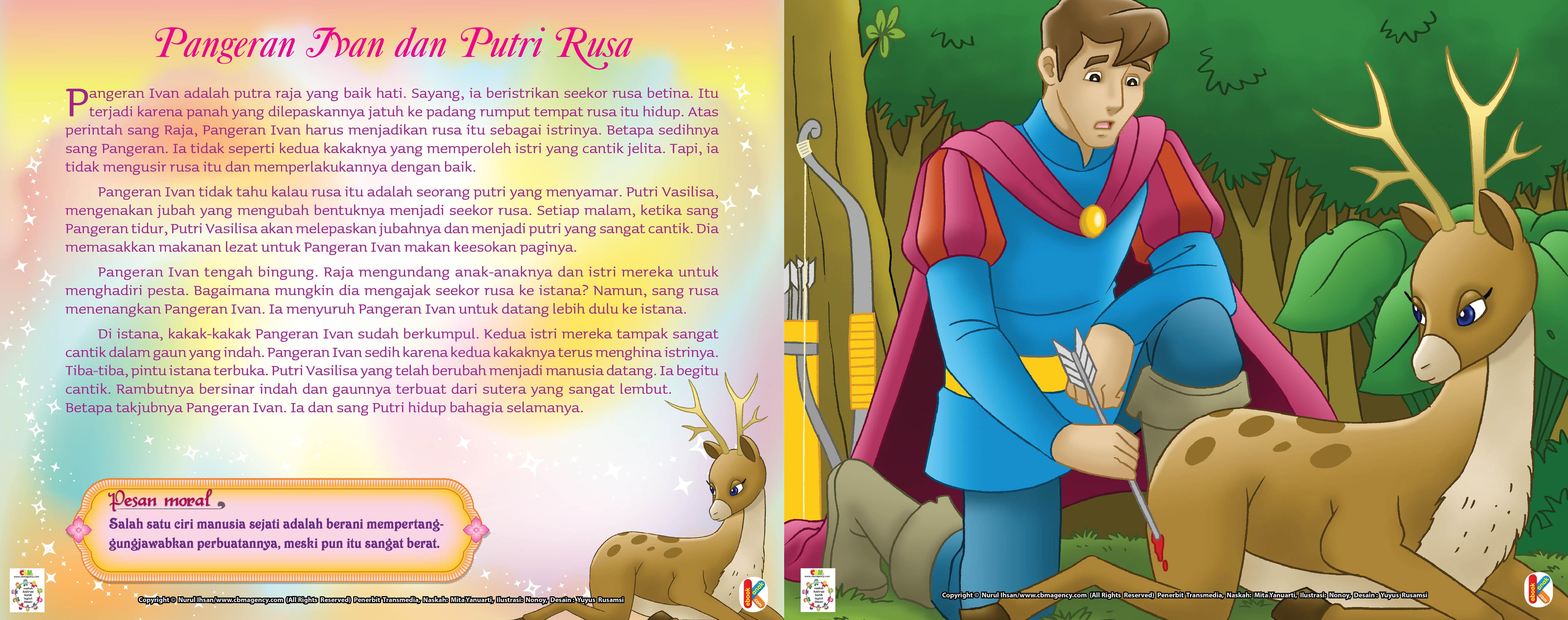 Sayang, Pangeran Ivan beristrikan seekor rusa betina.