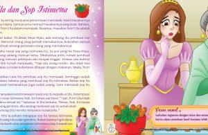 koki istana pun mengakui kehebatan Putri Lila dalam memasak.