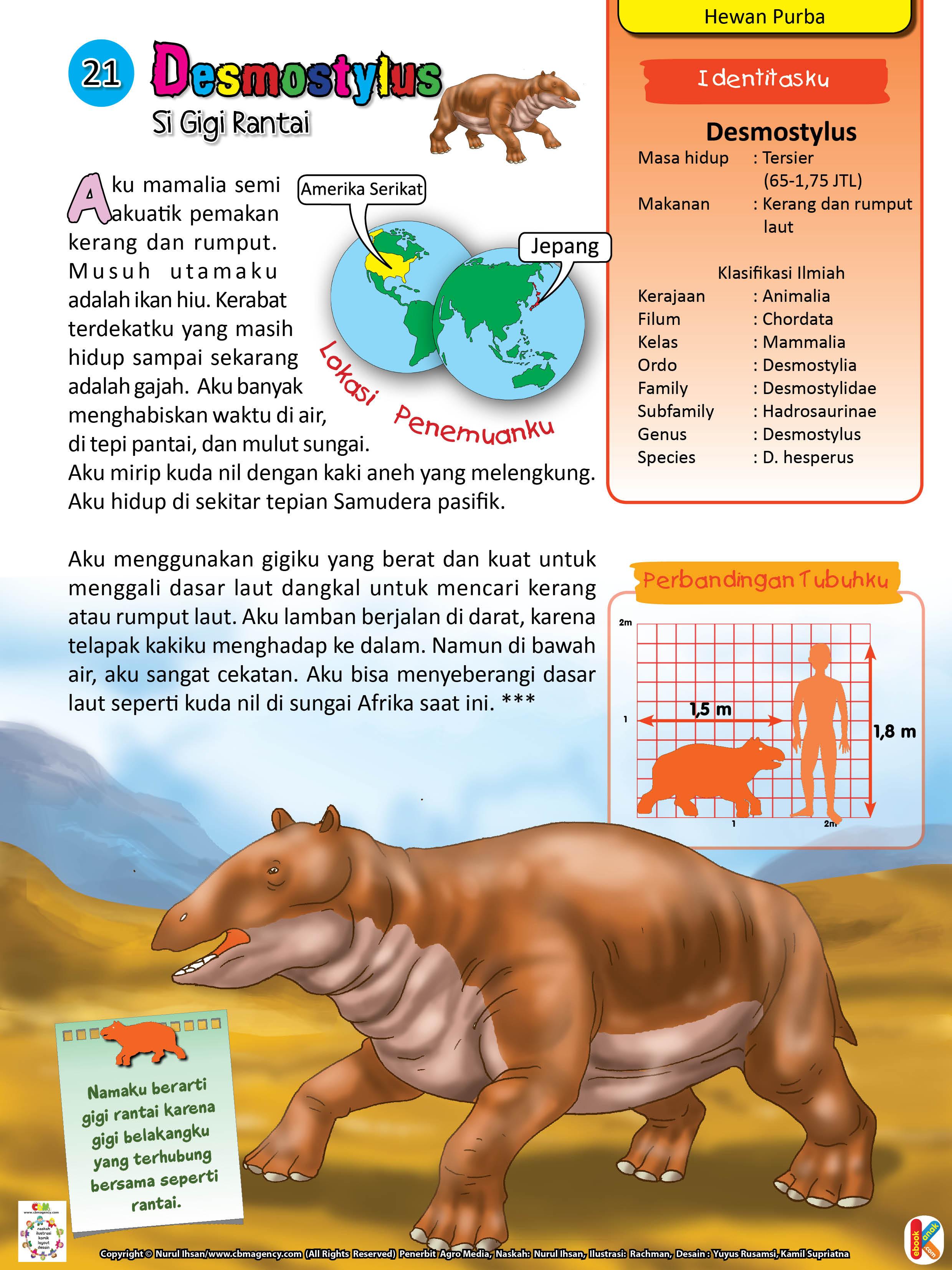 Desmostylus hewan purba akuatik pemakan kerang dan rumput
