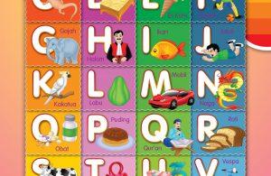 menulis huruf alfabet