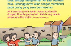 Hasan tidak sengaja menjatuhkan Ali saat bermain bola.