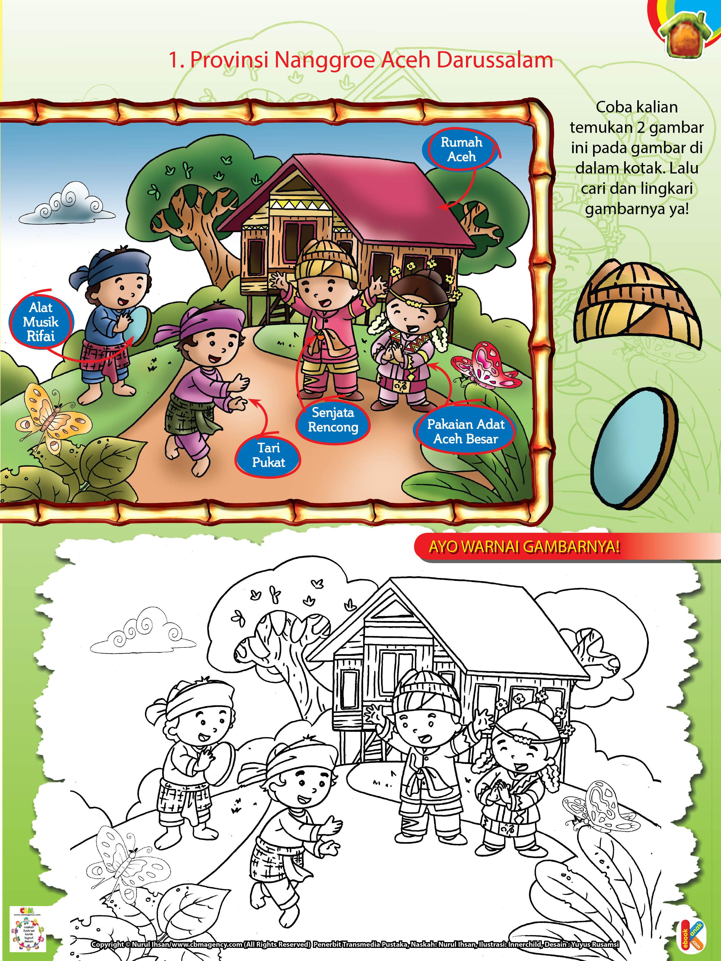 Gambar Mewarnai Rumah Adat Aceh provinsi nanggroe aceh darussalam