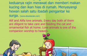 Tiap hari keduanya rajin merawat dan memberi makan kucing dan ikan hias di rumah.
