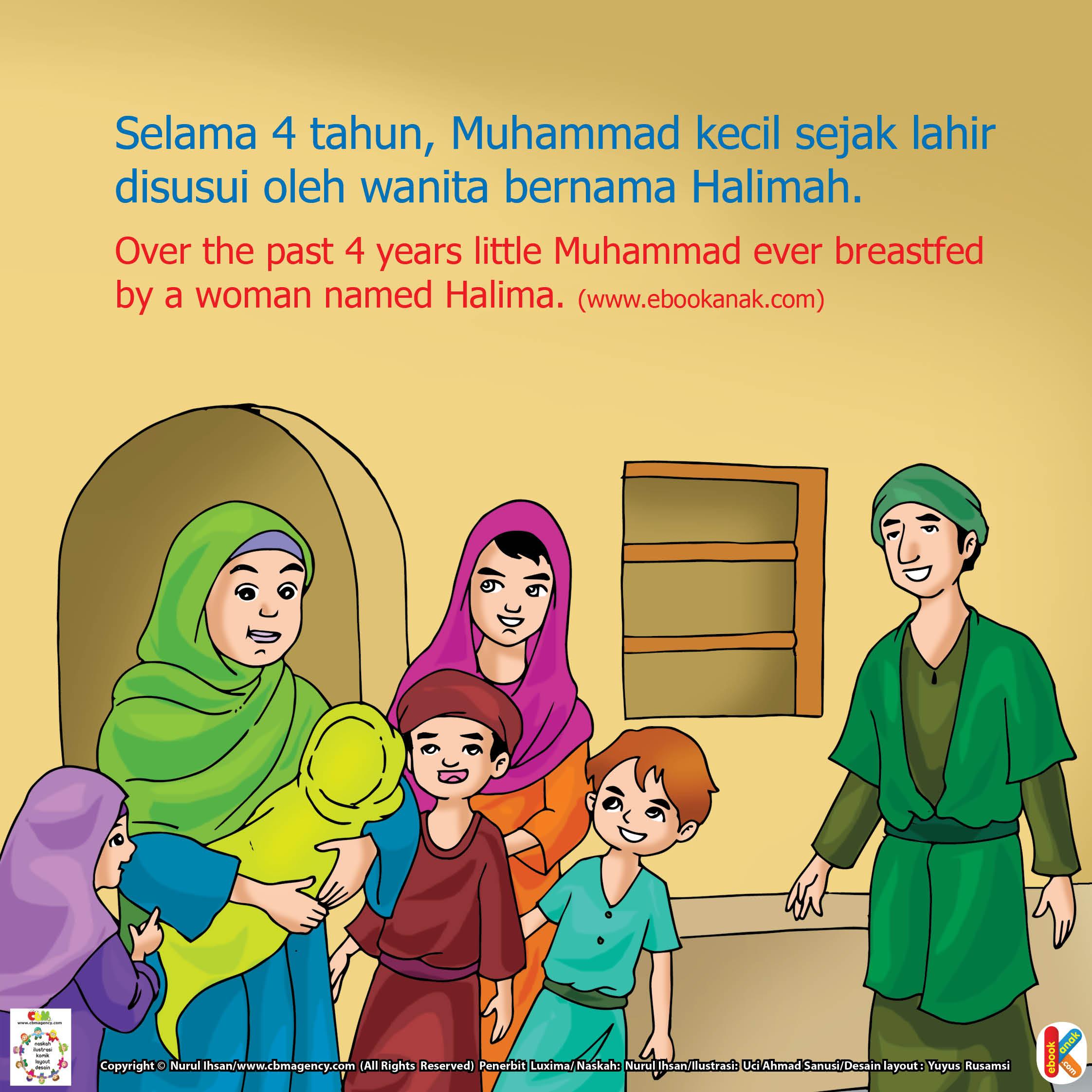Halimah adalah ibu susu nabi muhammad saat kecil.
