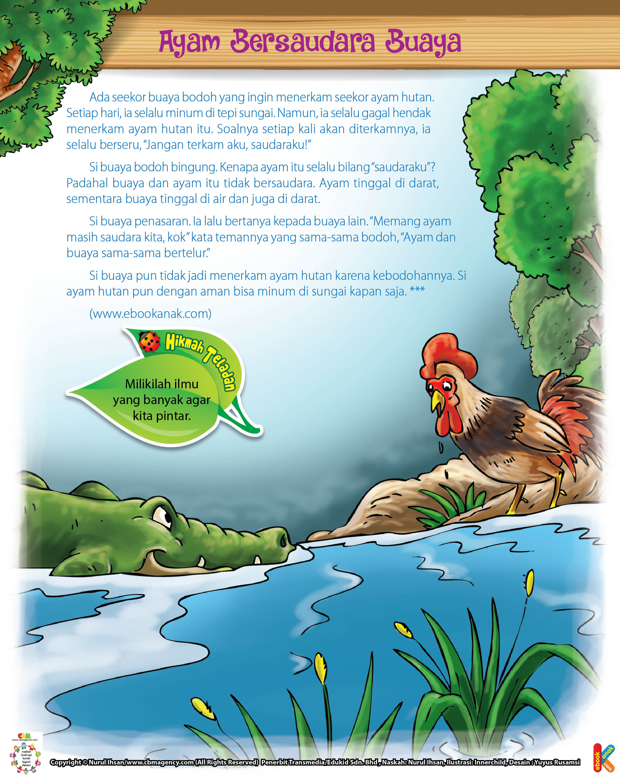 100 Dongeng Fabel Pilihan Jpg 18 Ayam Bersaudara Buaya Ebook Anak