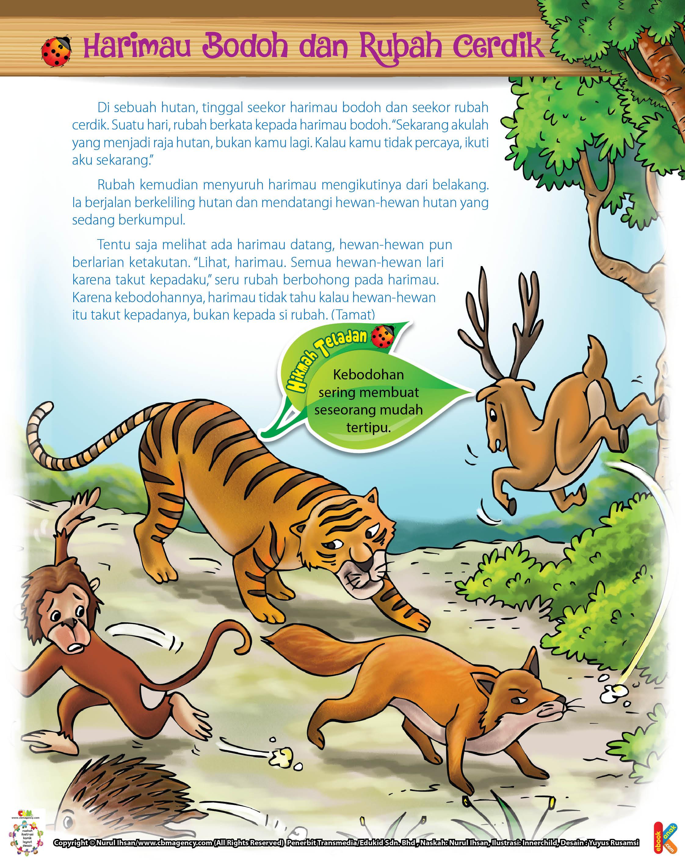 Harimau Bodoh Dan Rubah Cerdik Ebook Anak