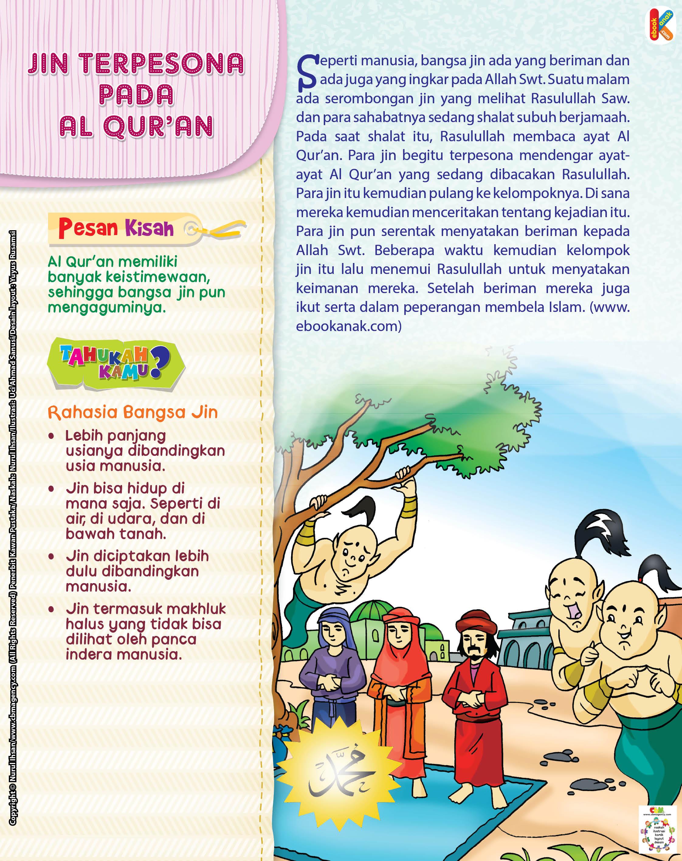 Para jin begitu terpesona mendengar ayat-ayat Al Qur'an yang sedang dibacakan Rasulullah.