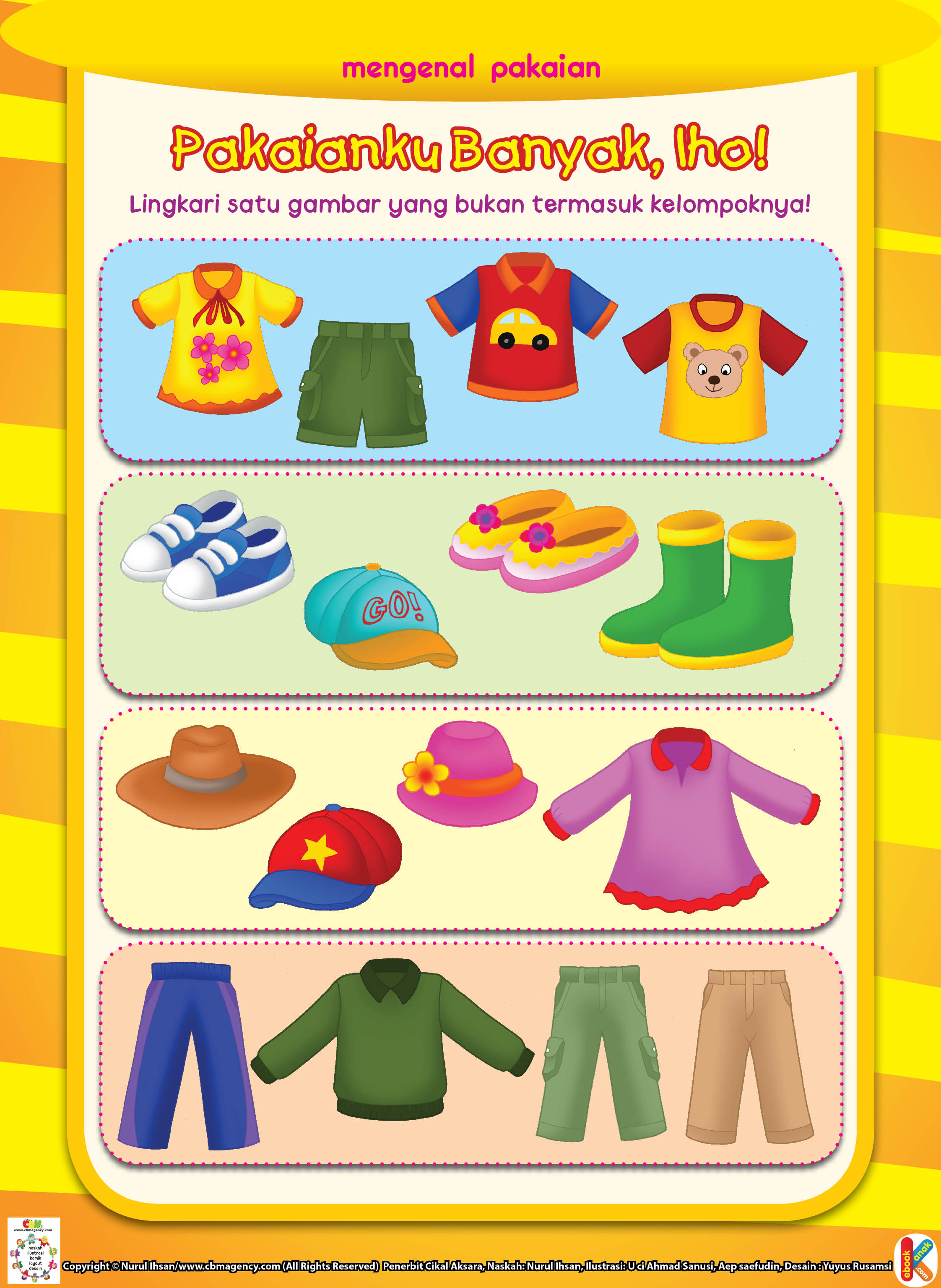 Worksheets Worksheet-anak-tk mengenal pakaian ebook anak sepatu laki dan perempuan