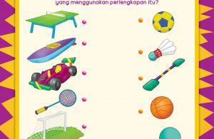 Ada olahraga tenis meja, dayung, balap mobil F1, bulutangkis, sepak bola, dan bola basket.