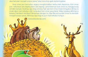 """Maka, terpaksa tak ada pilihan lain lagi Akhirnya, raja singa pun berseru,""""Hentikan! Hentikan!"""""""