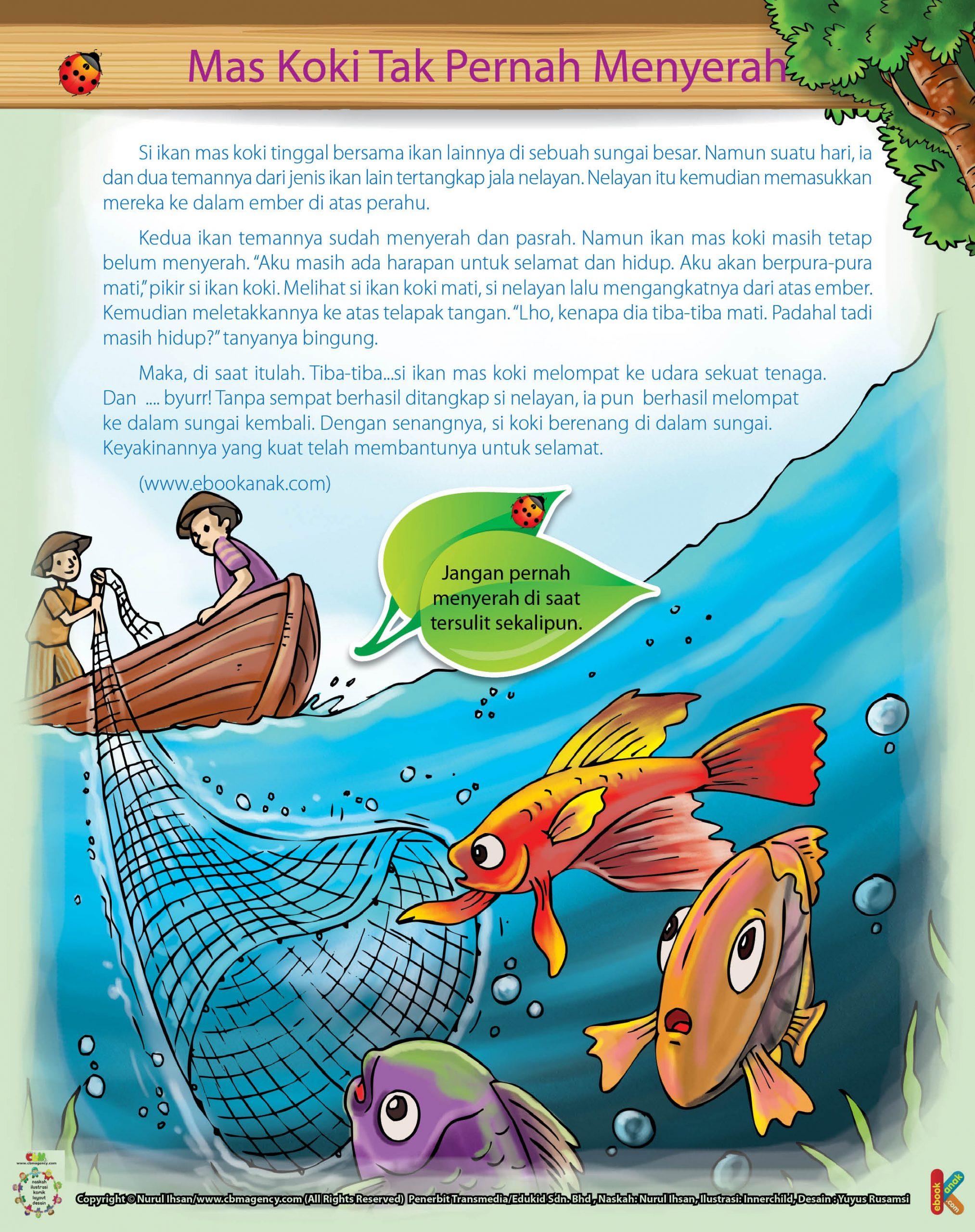 Gambar Nelayan Dan Ikan Mas Ikan Mas Koki Yang Tak Pernah Menyerah Ebook Anak