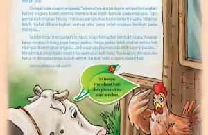 Ayam heran kenapa sapi lebih disayang manusia dibandingkan ayam.