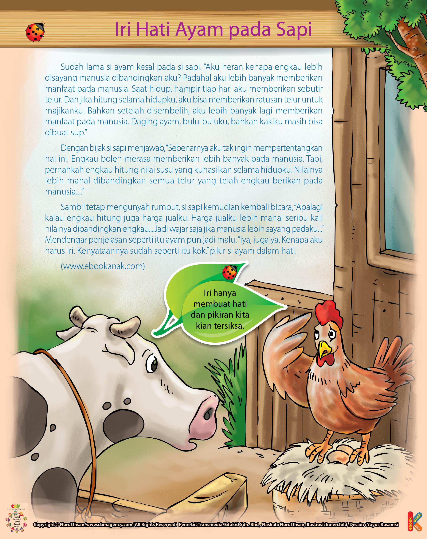 Kenapa Ayam Yang Iri Hati Pada Sapi Ebook Anak