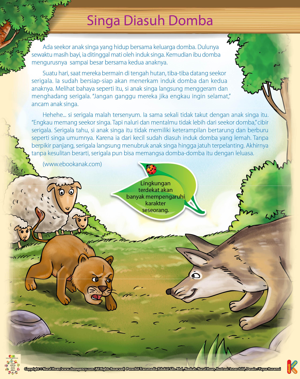 100 Dongeng Fabel Pilihan Jpg 60 Singa Diasuh Domba Ebook Anak