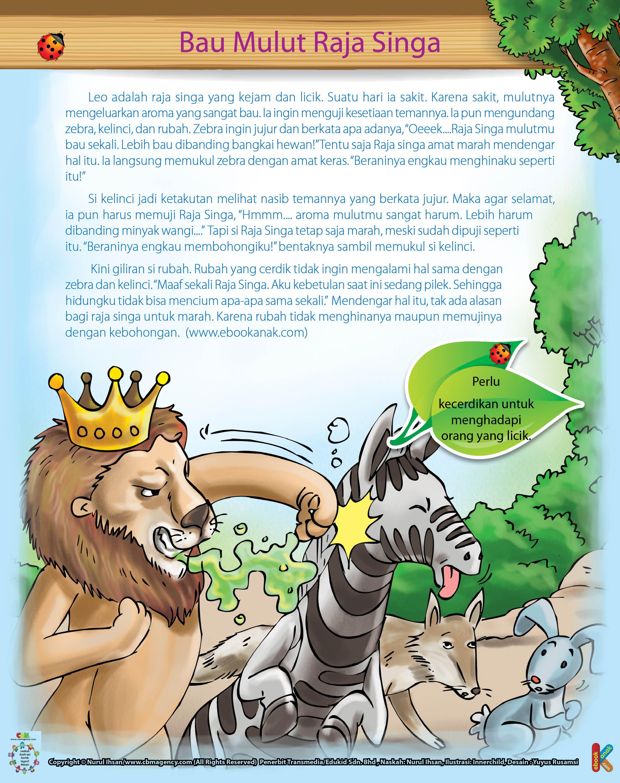 Zebra ingin jujur dan berkata apa adanya kepada Leo dengan menyebut mulut leo bau sekali.