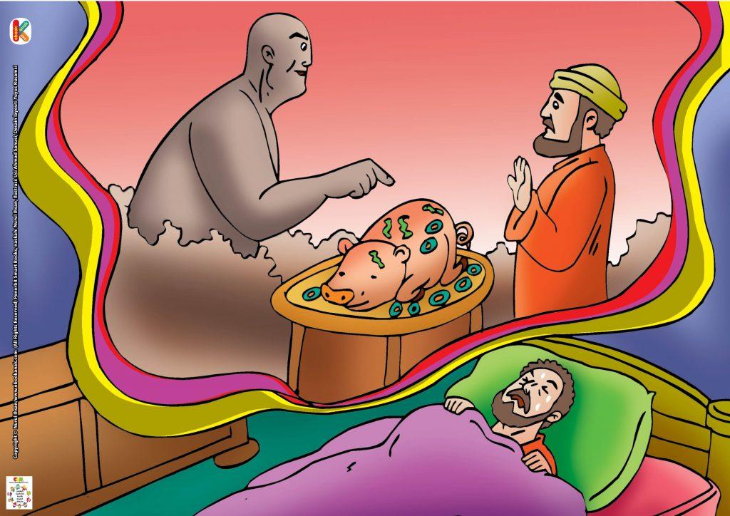 Khalid terus-menerus menolak makan daging babi itu.