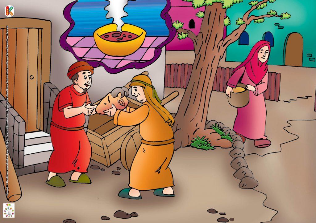 Lalu Fulan memberikan kembali kepala kambing itu, pada Ahmad, sahabatnya yang lebih membutuhkan.