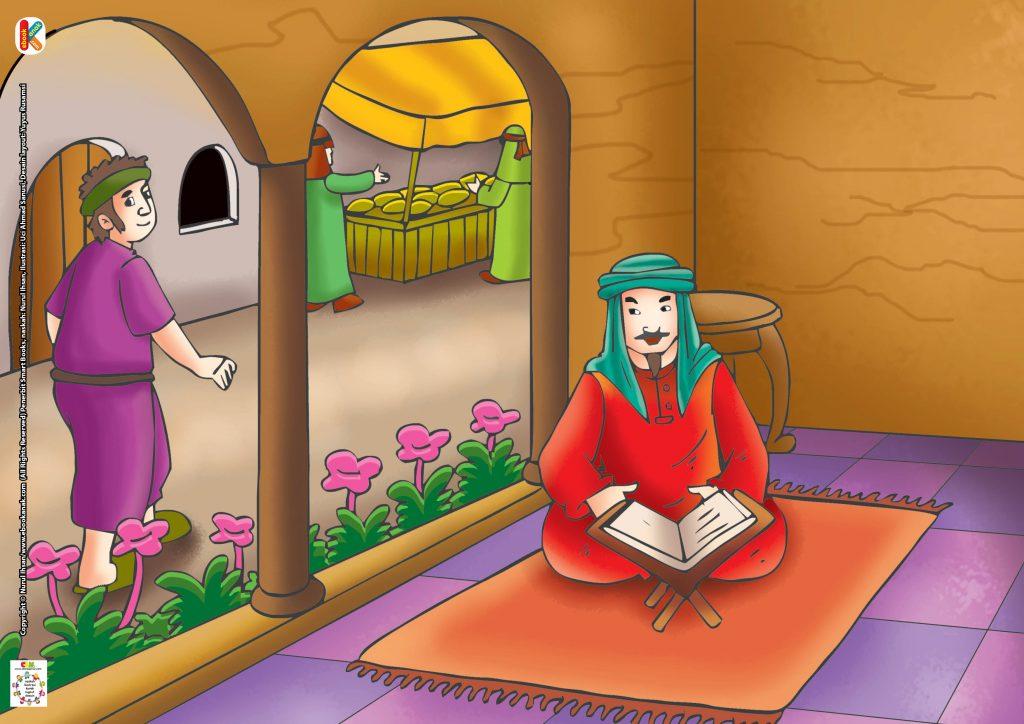 Selesai membaca Al-Qur'an, kemudian ahli ibadah itu tertidur dan bermimpi.