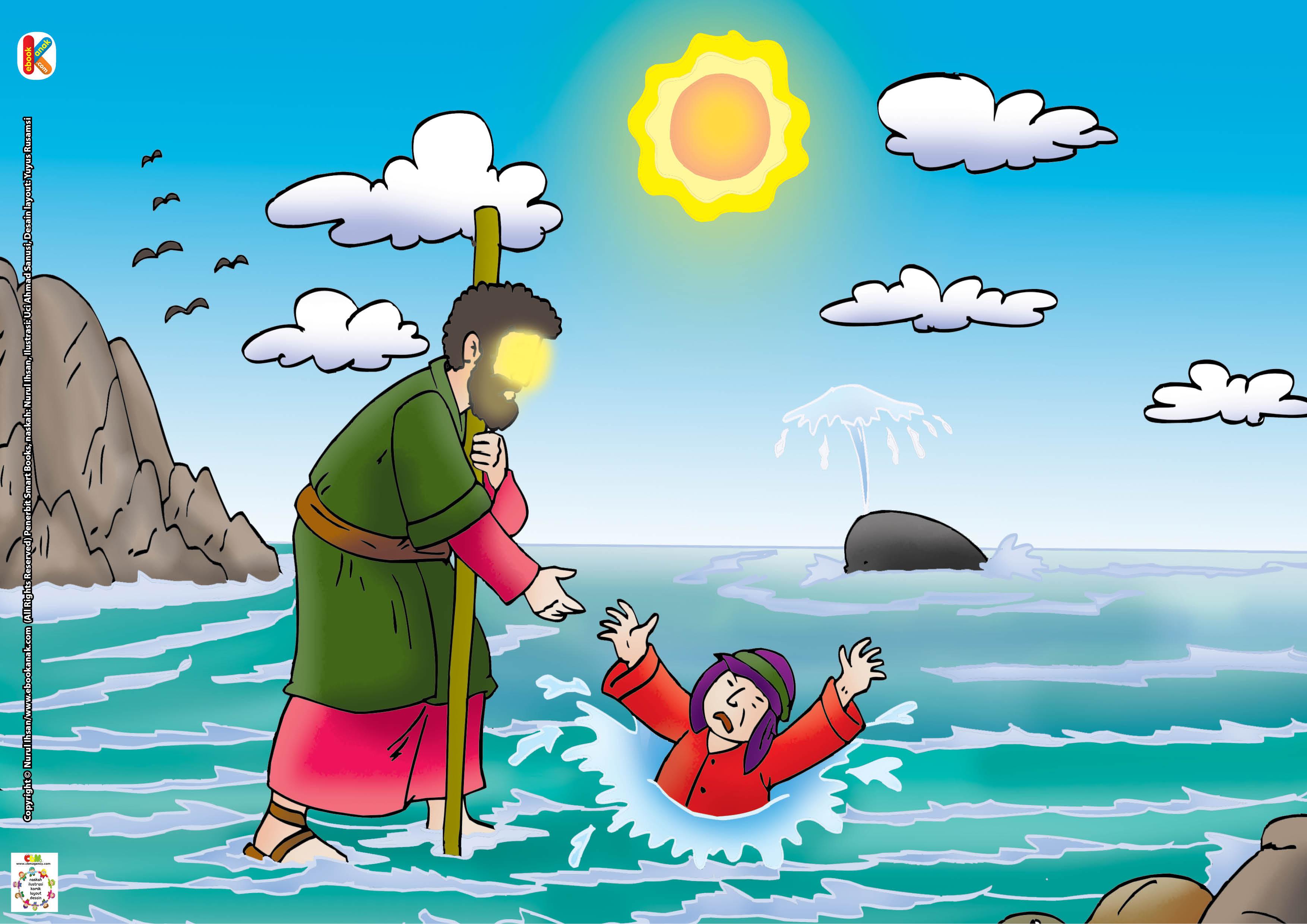 Nabi Isa as. dan sahabatnya bisa berjalan di atas laut.