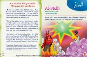 Dengan patuh para malaikat pun bersujud pada Adam as. sebagai bentuk kesetiaan pada Allah Swt..