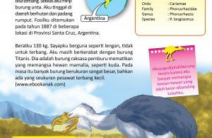 Phorusrhacos adalah burung raksasa pemburu mematikan yang memangsa hewan mamalia, seperti kuda.
