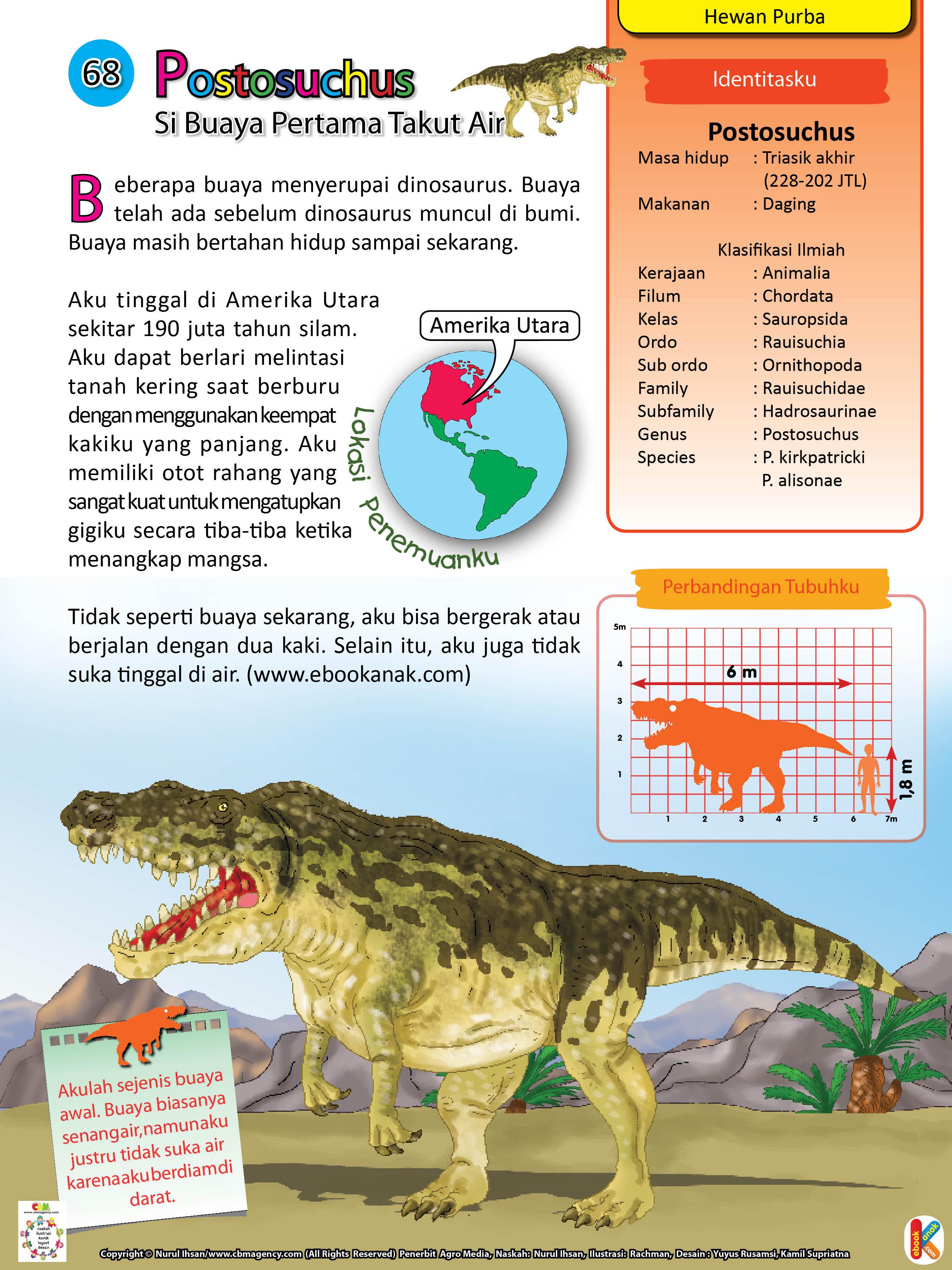 Postosuchus dapat berlari melintasi tanah kering saat berburu dengan menggunakan keempat kakinya yang panjang.