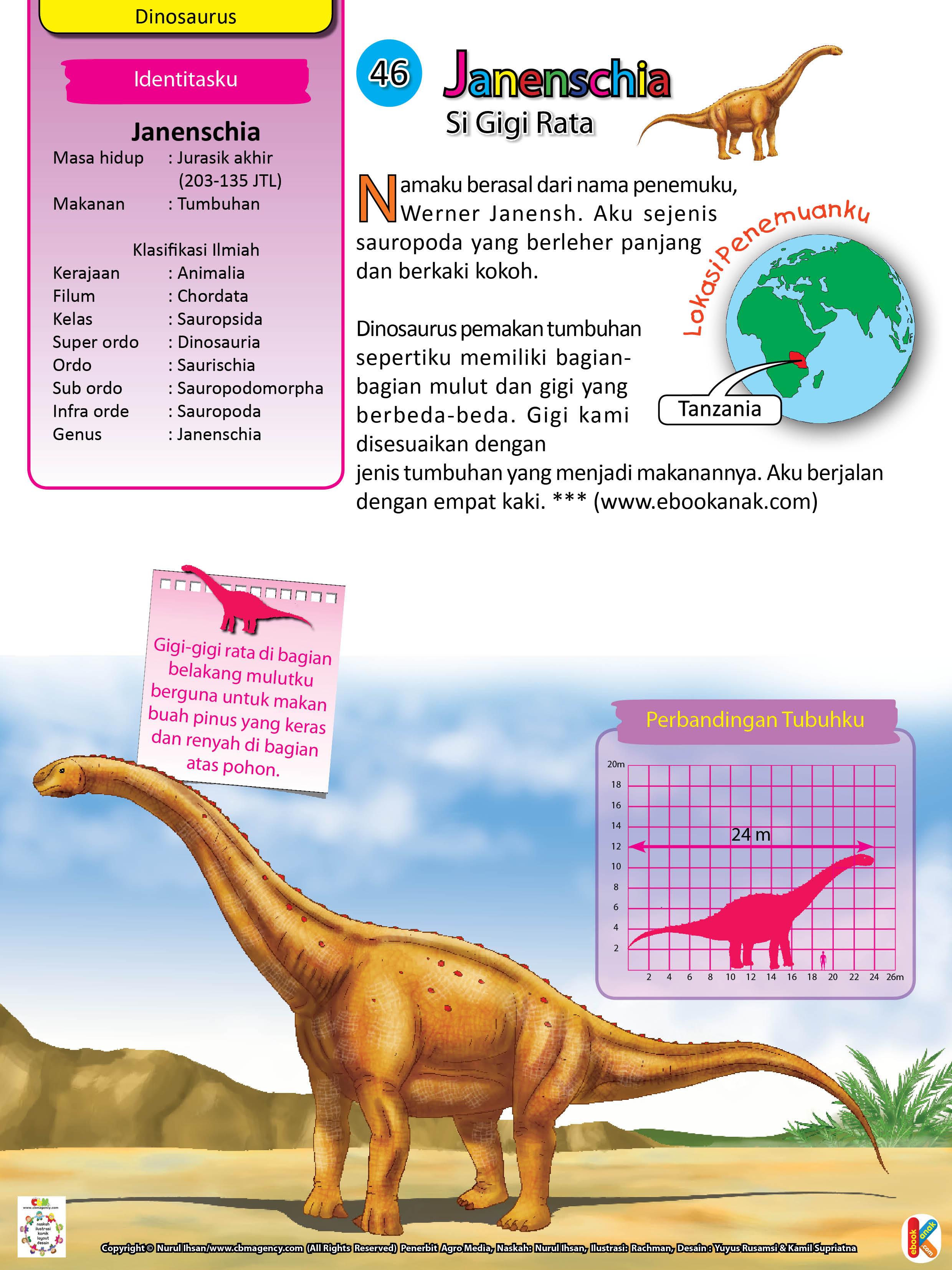 Janenschia sejenis sauropoda yang berleher panjang dan berkaki kokoh.