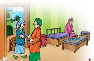 """Tiba-tiba, Tsabit bin Ibrahim berseru, """"Ya Allah! Apel ini bukan milikku, kenapa aku makan?"""""""