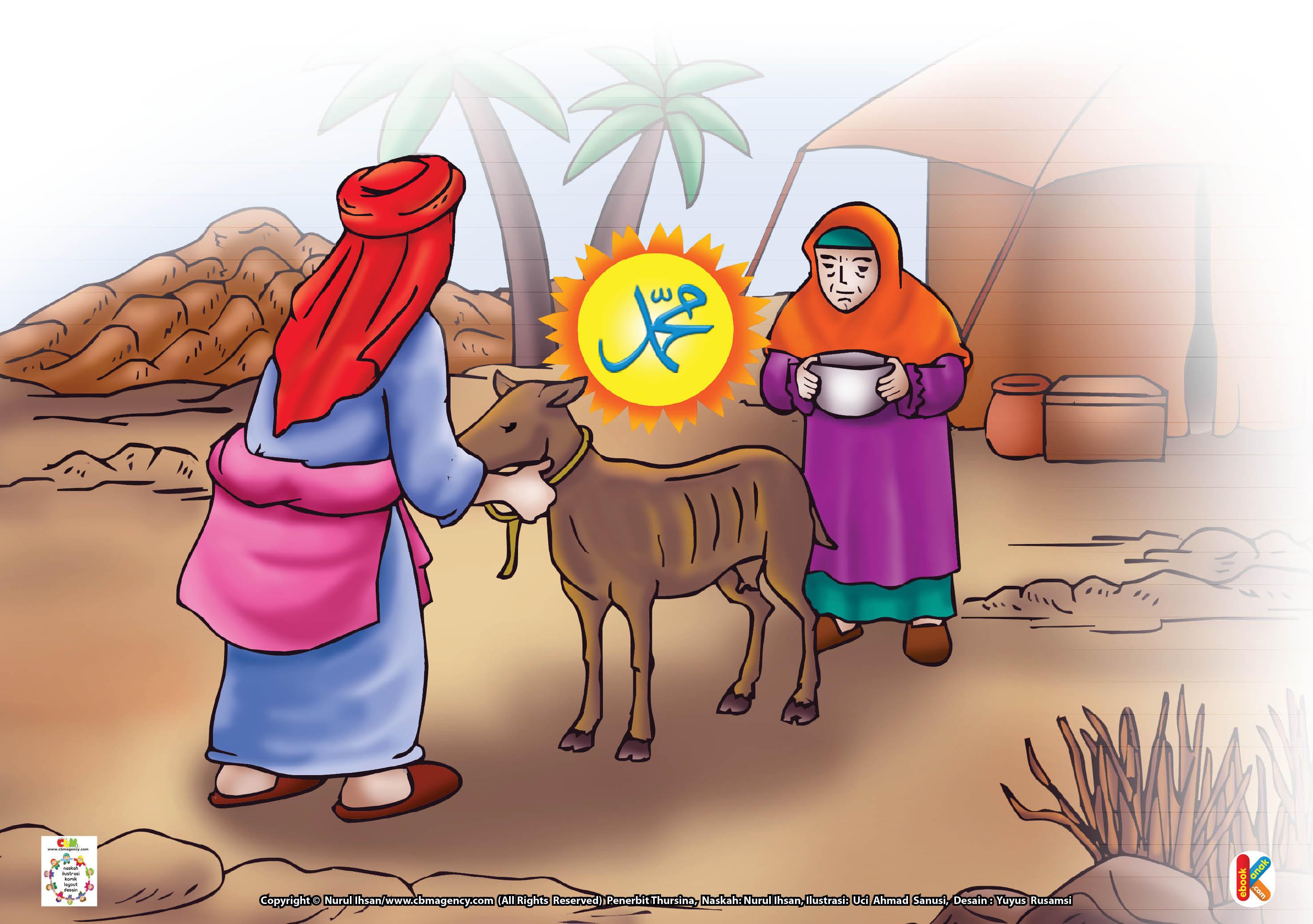 Download Gambar Gratis Asmaul Husna for Kids 92 an naafi Rasul Saw dan Kambing Kurus Penghasil Susu Berlimpah