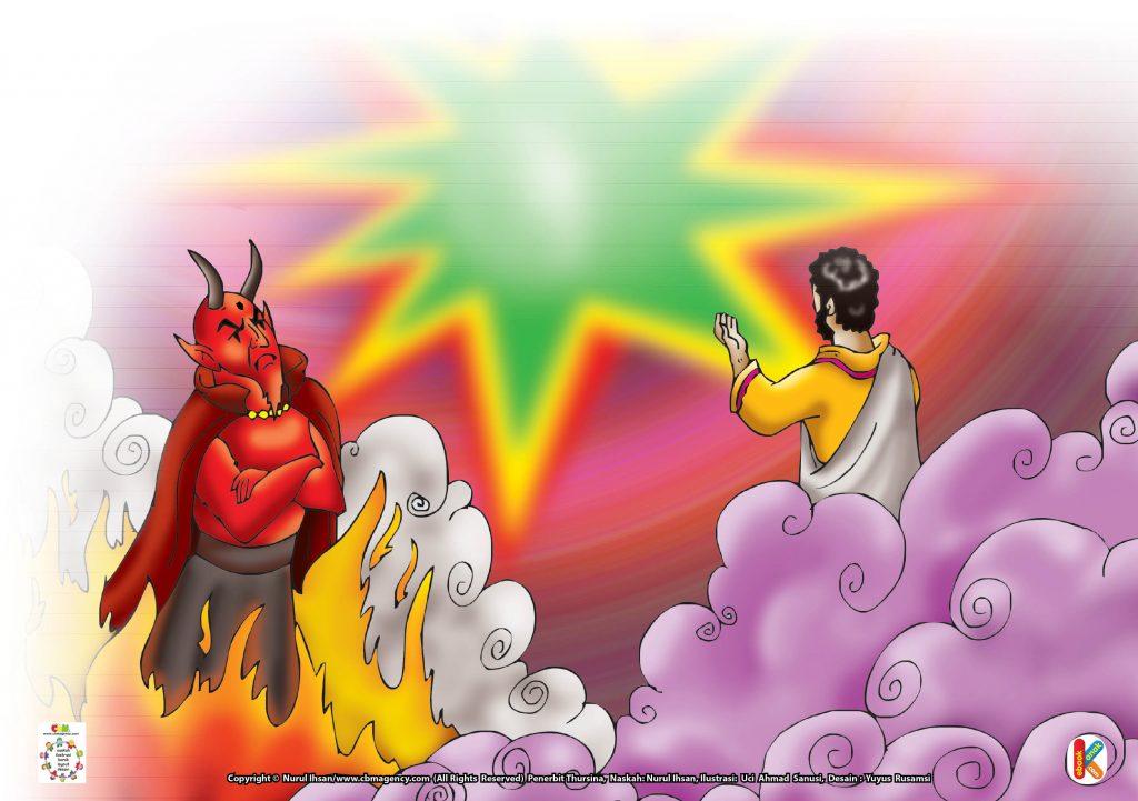Download Gambar Gratis Asmaul Husna for Kids 95 Al-Badii'-Alasan Allah Mengutuk dan Mengusir Iblis dari Surga