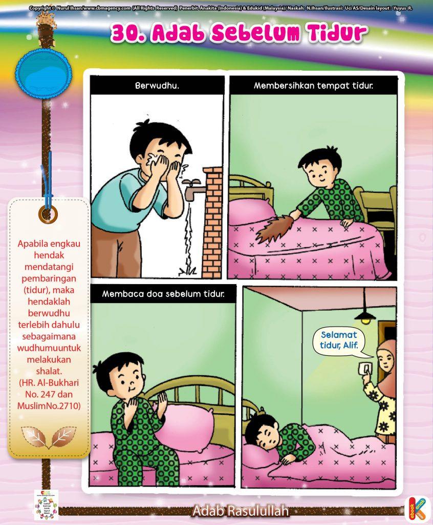 101-komik-adab-rasulullah-30-adab-sebelum-tidur