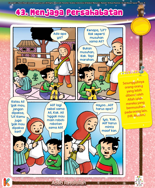 Komik Adab Menjaga Persahabatan Ebook Anak